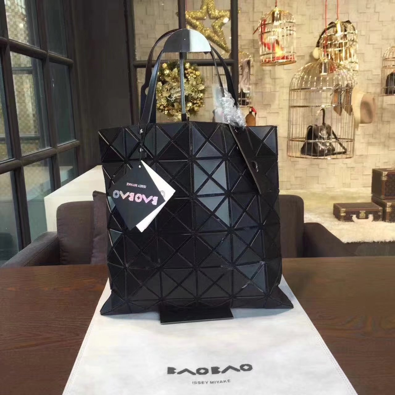 Issey Miyake Bao Bao Shopping Bag Black
