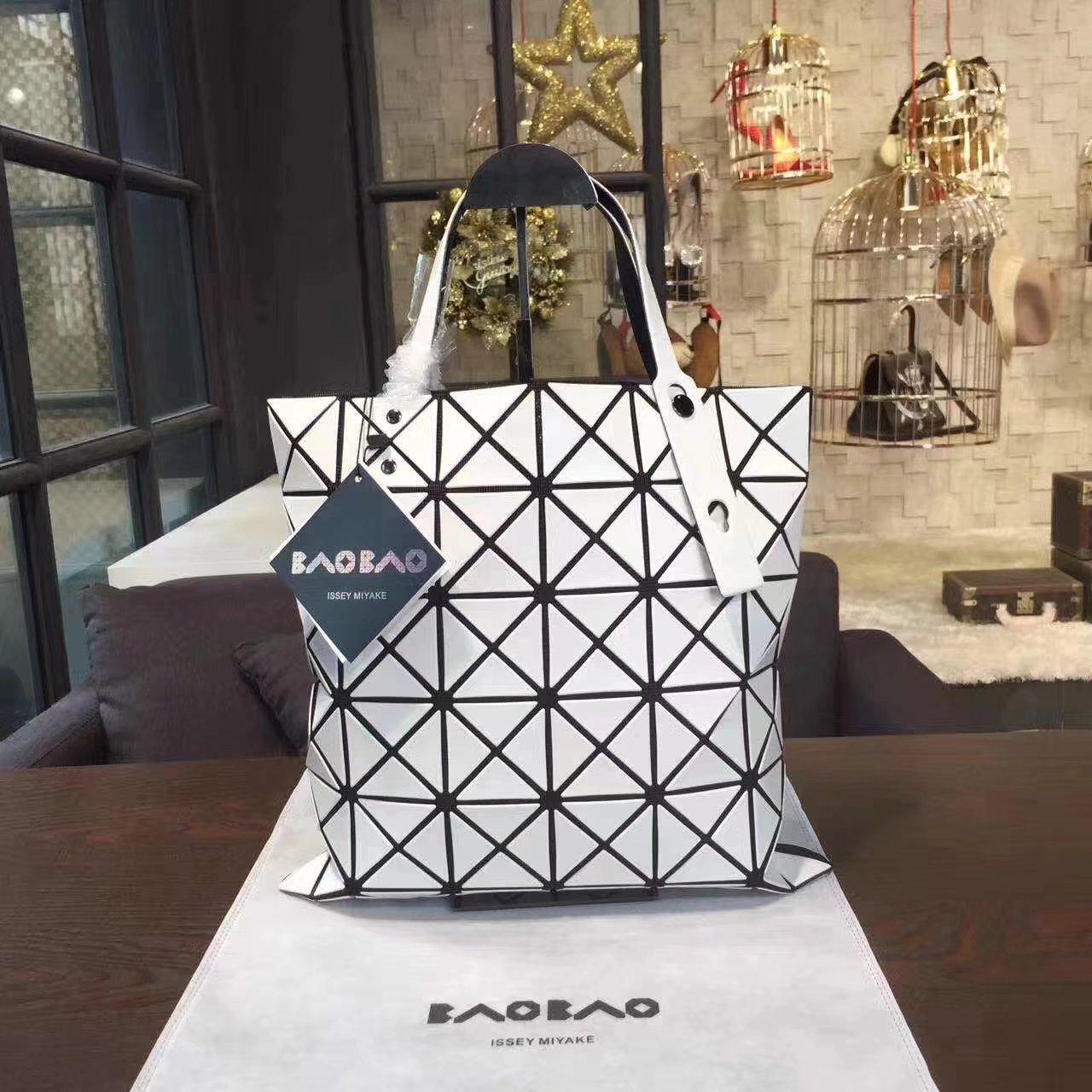 Issey Miyake Bao Bao Shopping Bag White