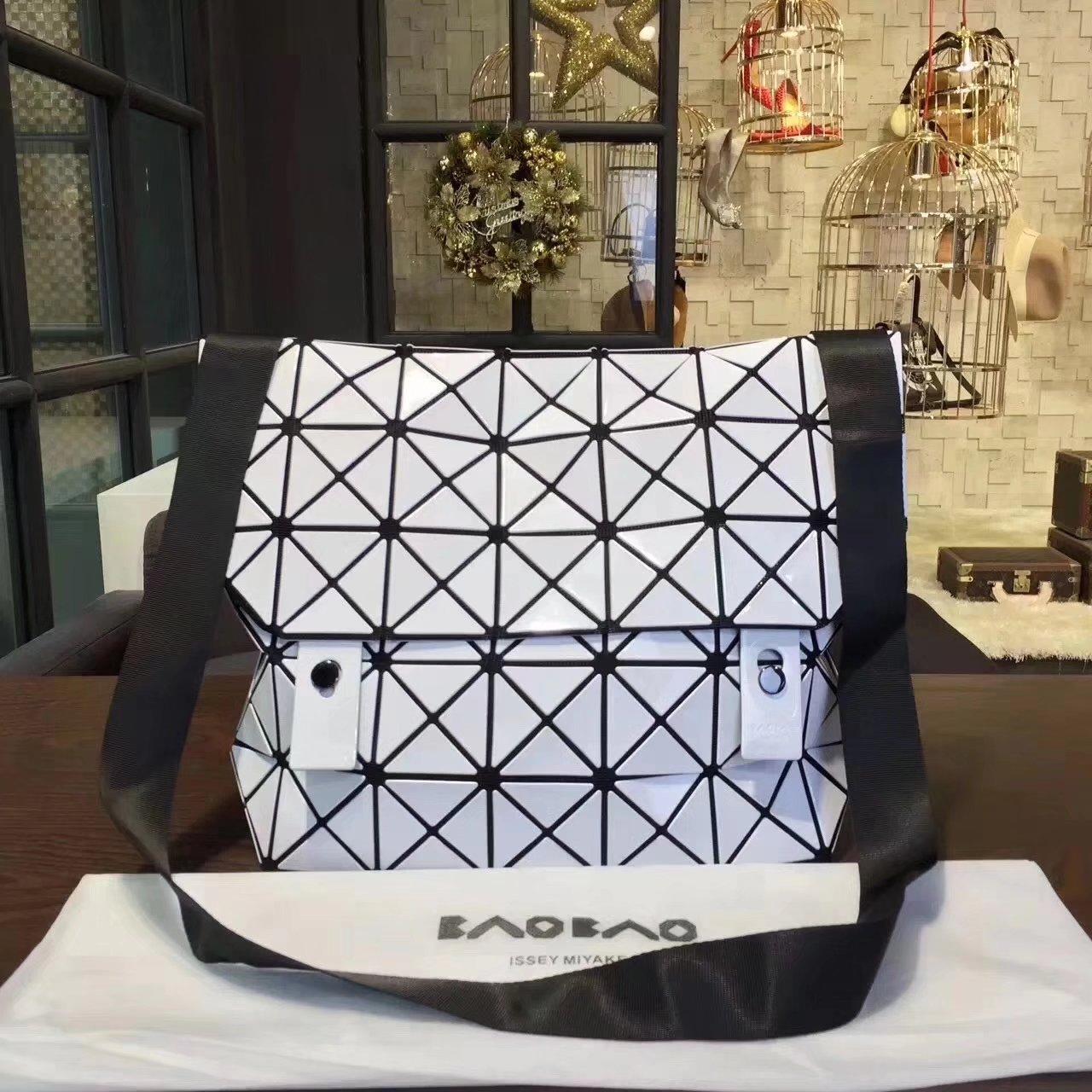 Issey Miyake Bao Bao Shoulder Bag White