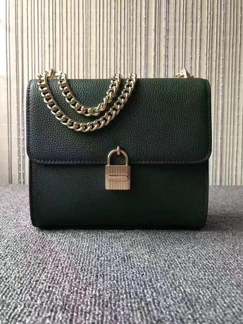 Michael Kors 2017 Lock Shoulder Chain Bag Green