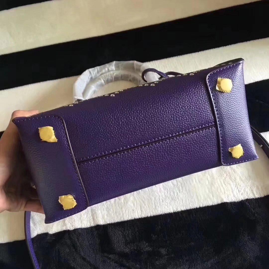 Michael Kors Mercer Grommeted Leather Tote Bag Iris