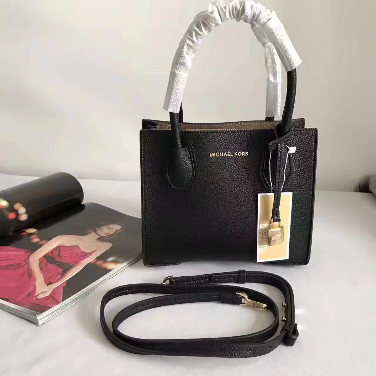 Michael Kors Mercer Leather Crossbody Black