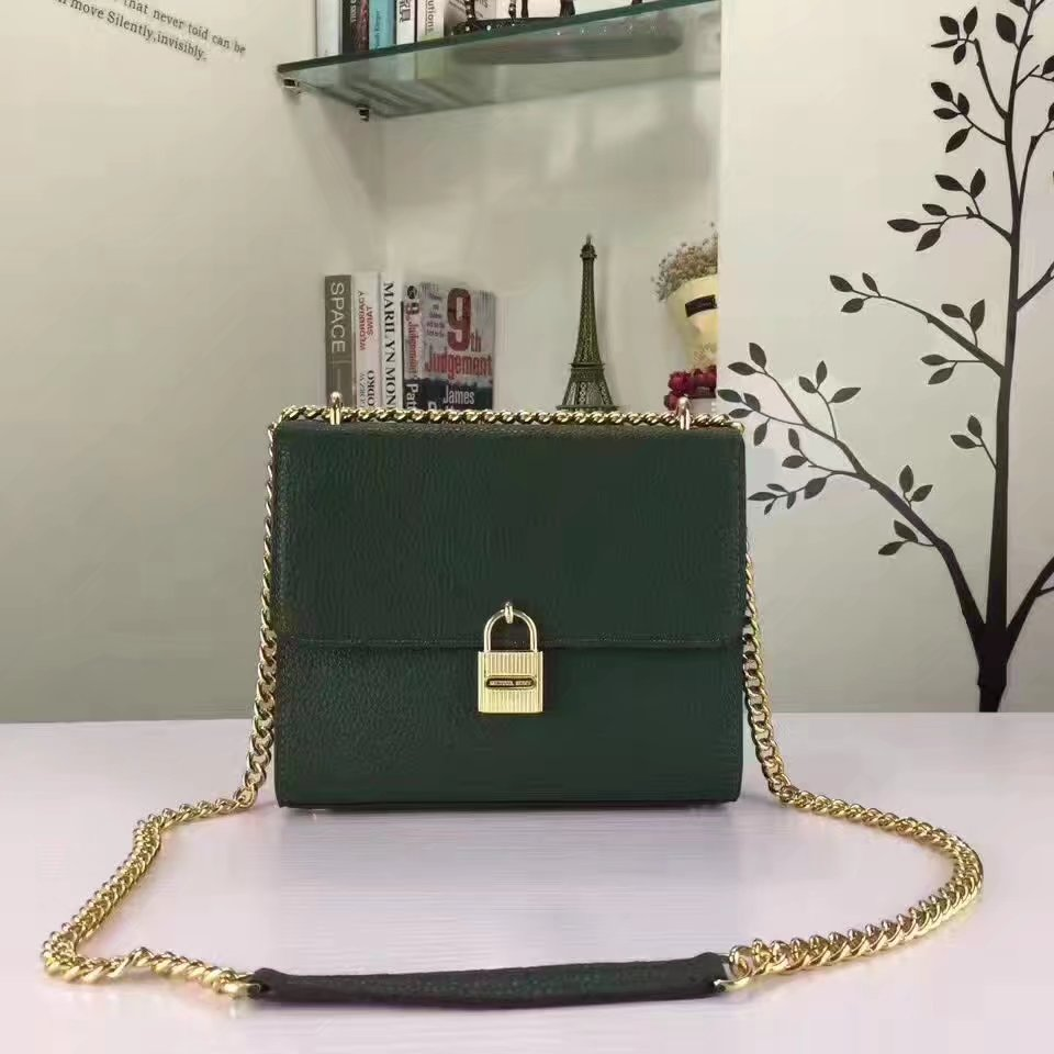 Michael Kors Mercer Lock Flap Women Tote Bag Green