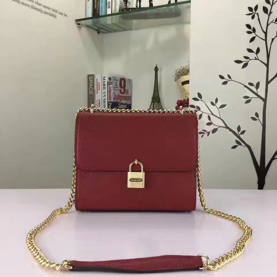 Michael Kors Mercer Lock Flap Women Tote Bag Red