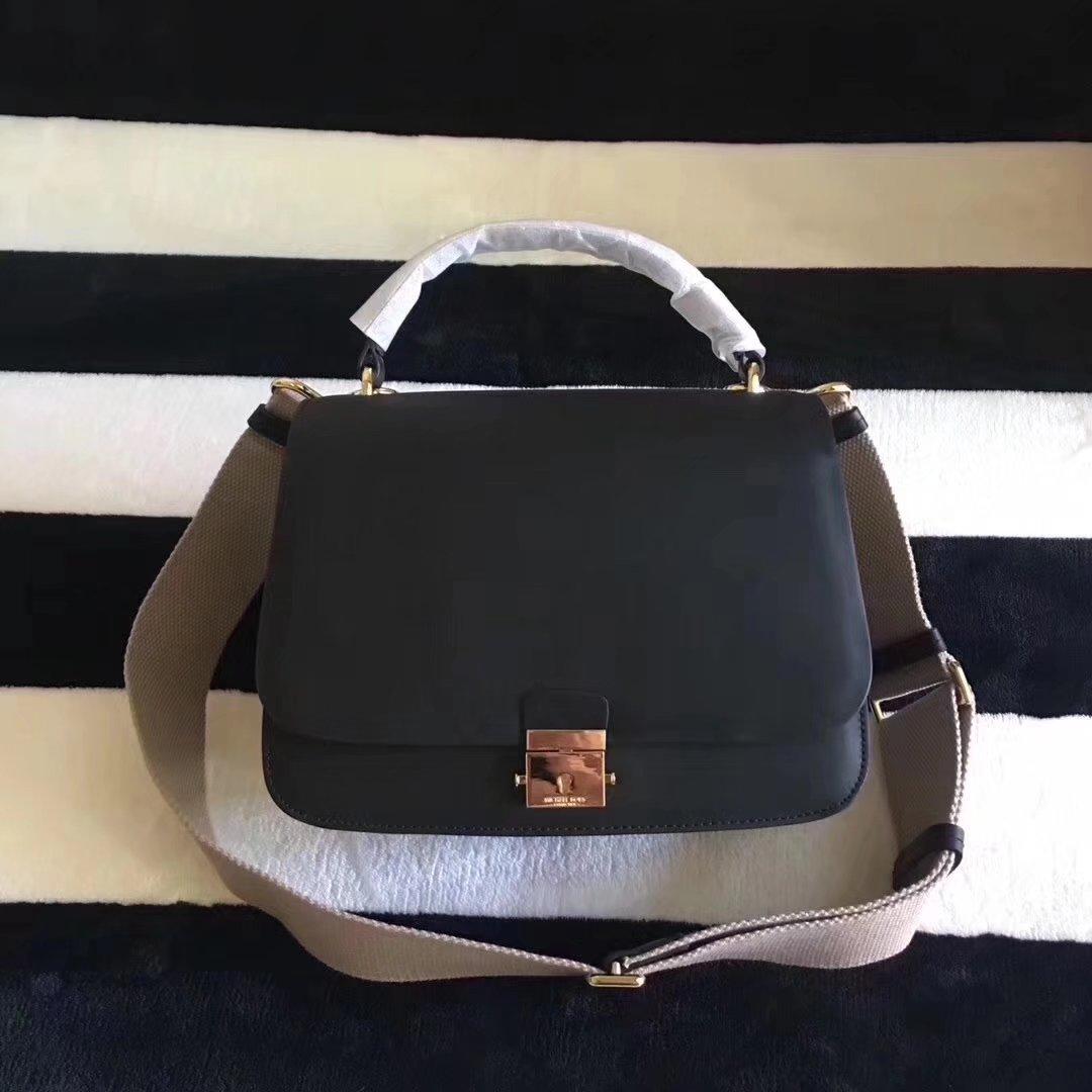 Michael Kors Mia French Calf Leather Shoulder Bag Satchel
