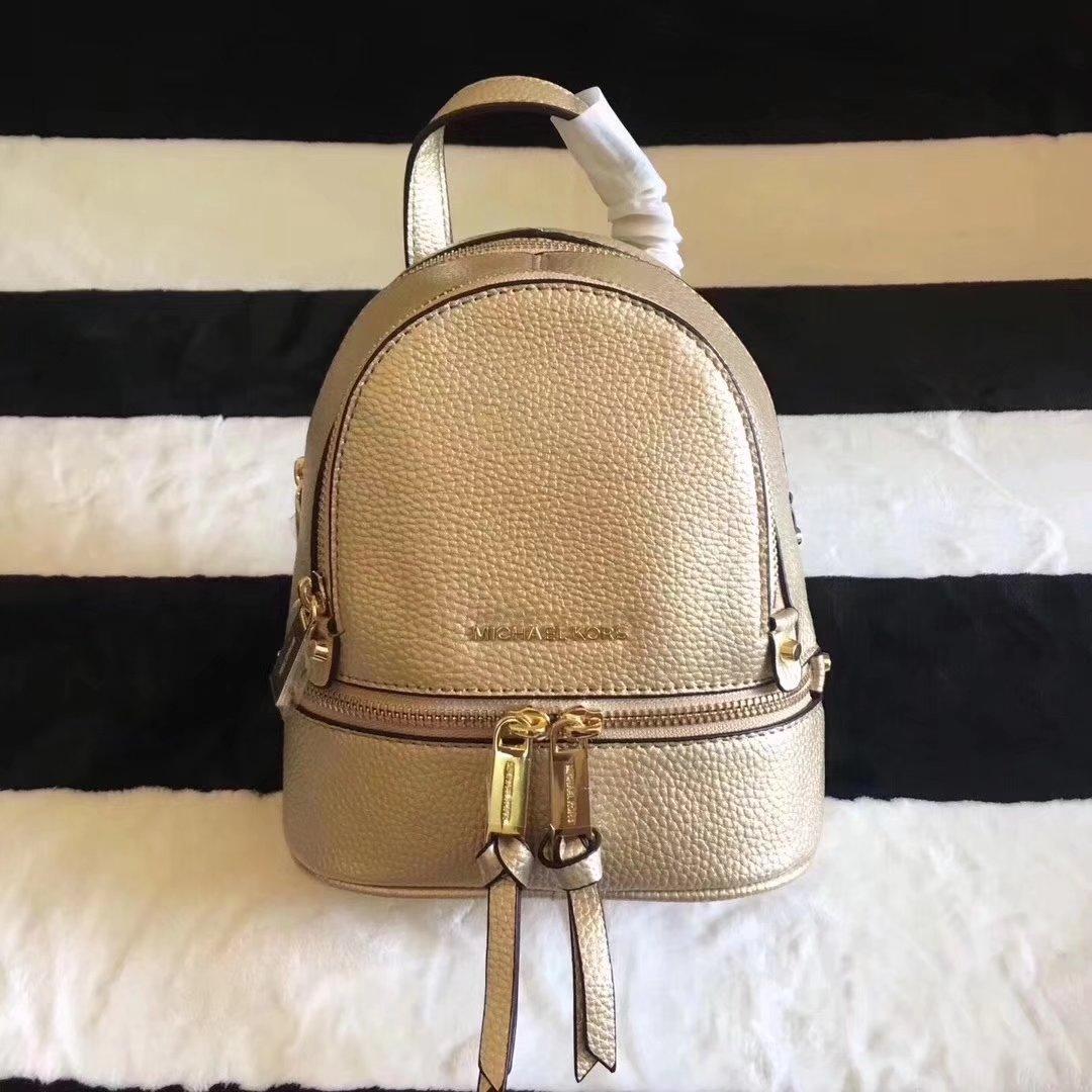 Michael Kors Rhea Zip Mini Women Leather Backpack White