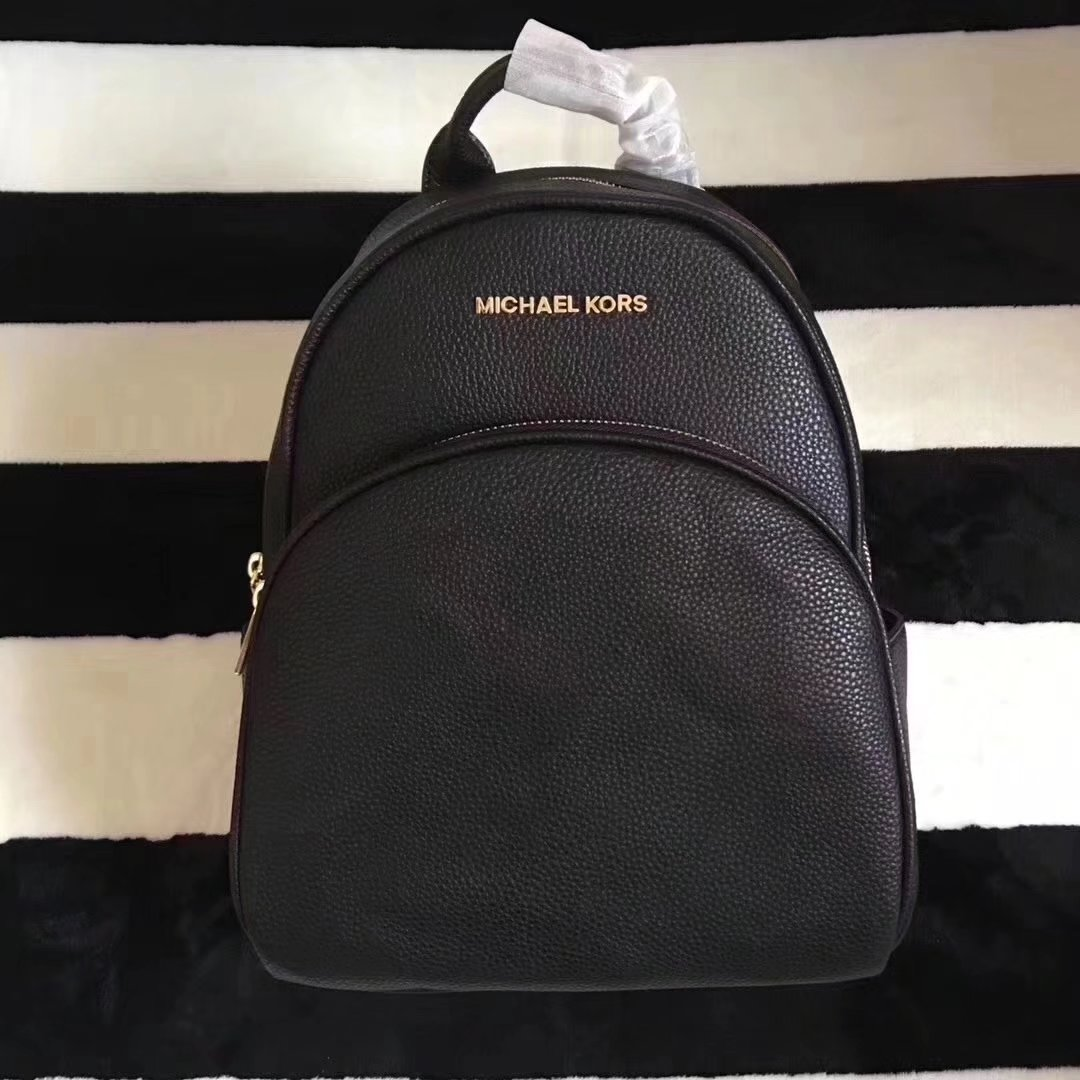 Michael Kors Women Leather Backpack Black