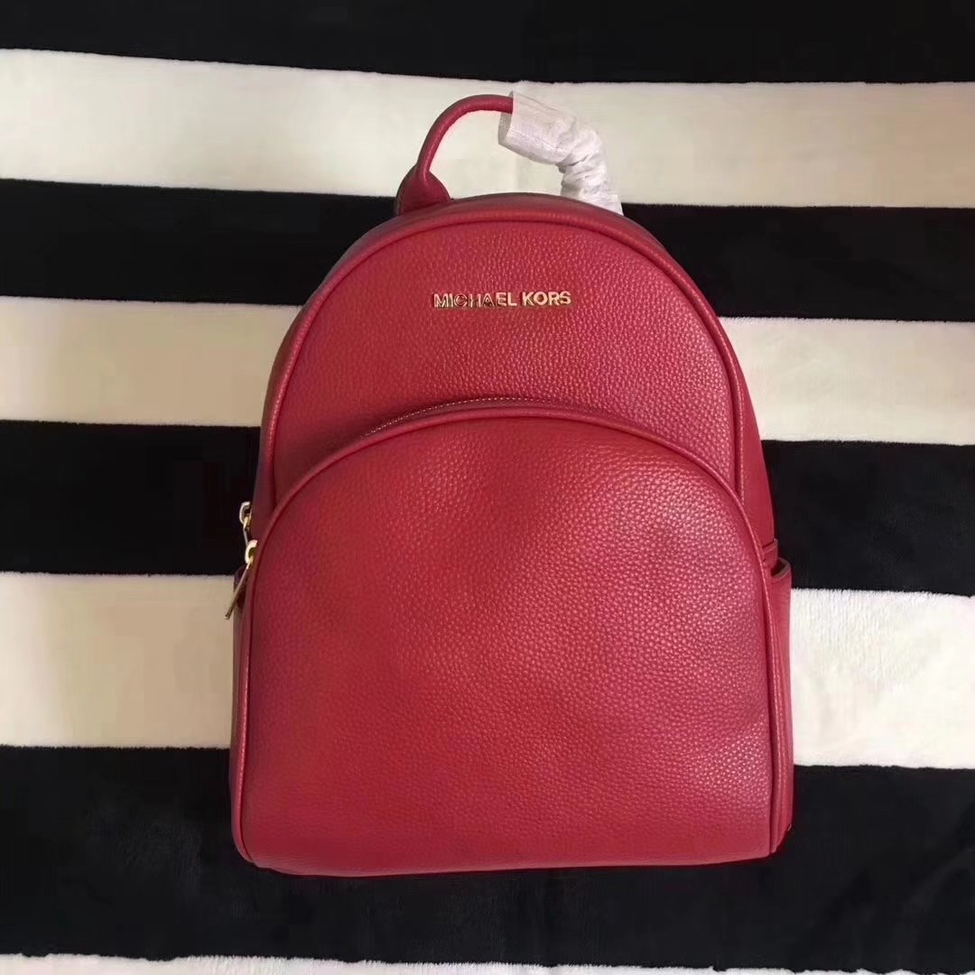 Michael Kors Women Leather Backpack Red