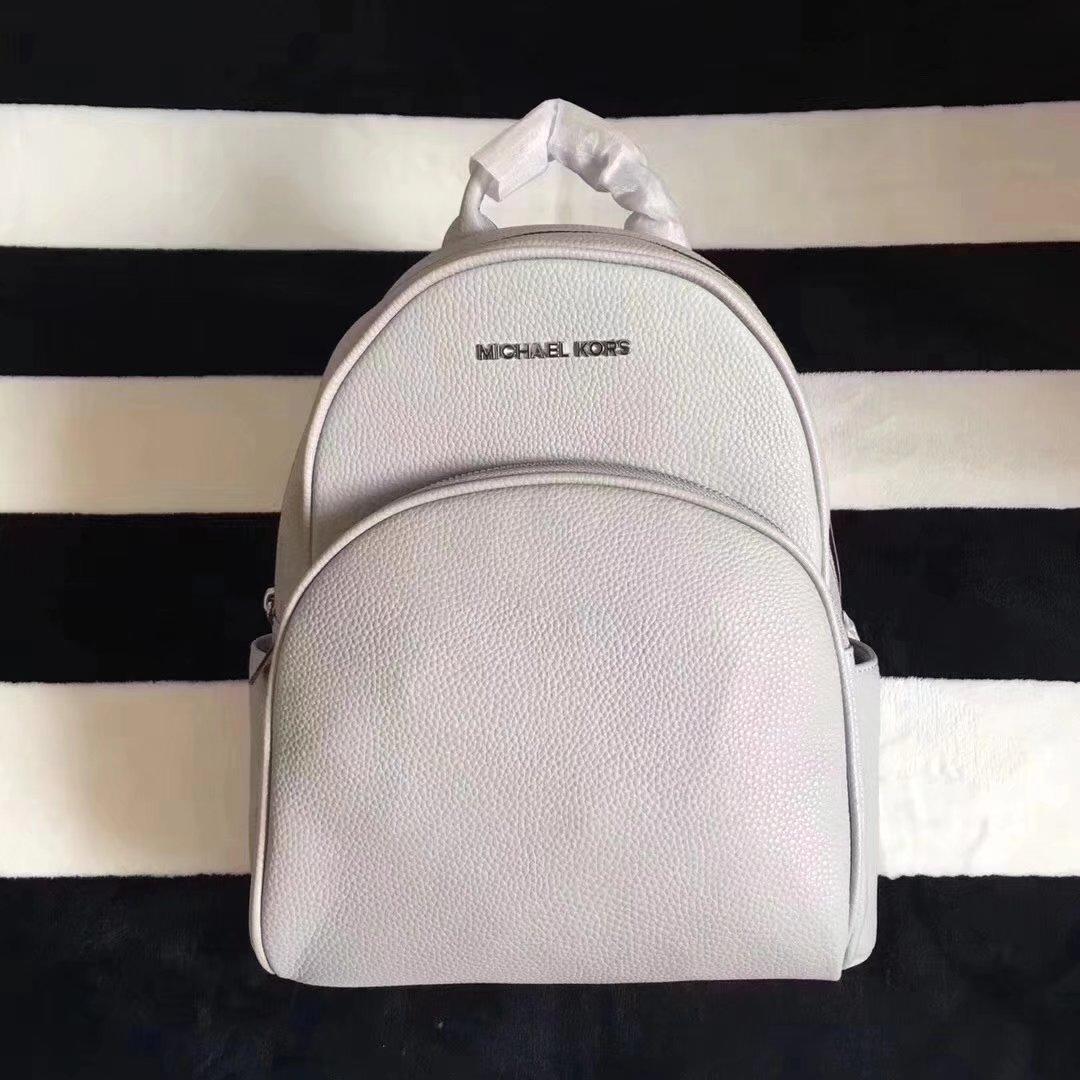 Michael Kors Women Leather Backpack White