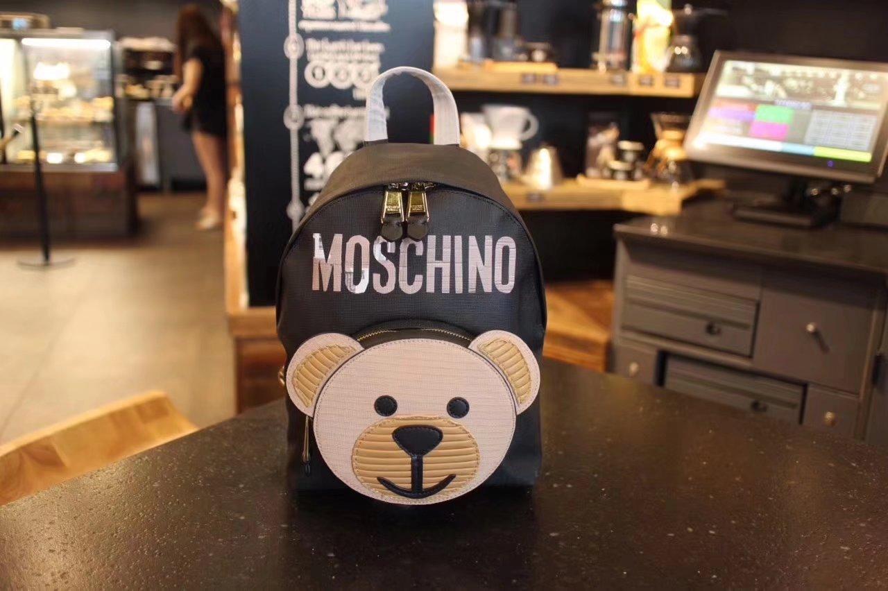 Moschino Capsule Tidy Women Backpack Black