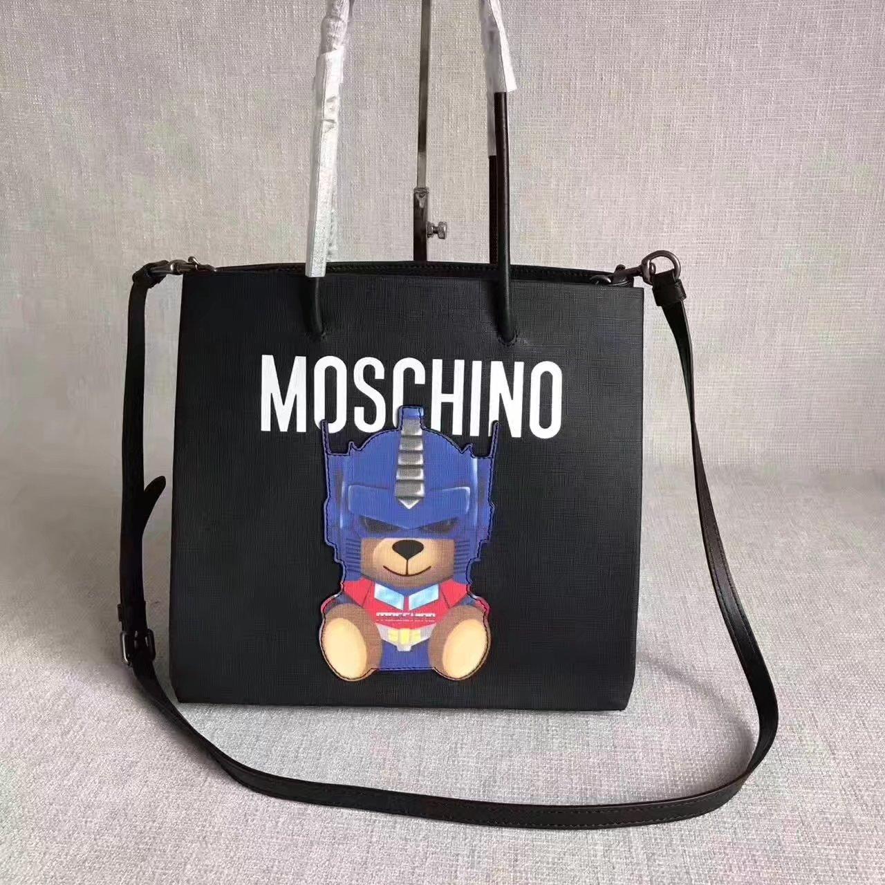 Moschino TRANSFORMERS Women Tote Bag Black