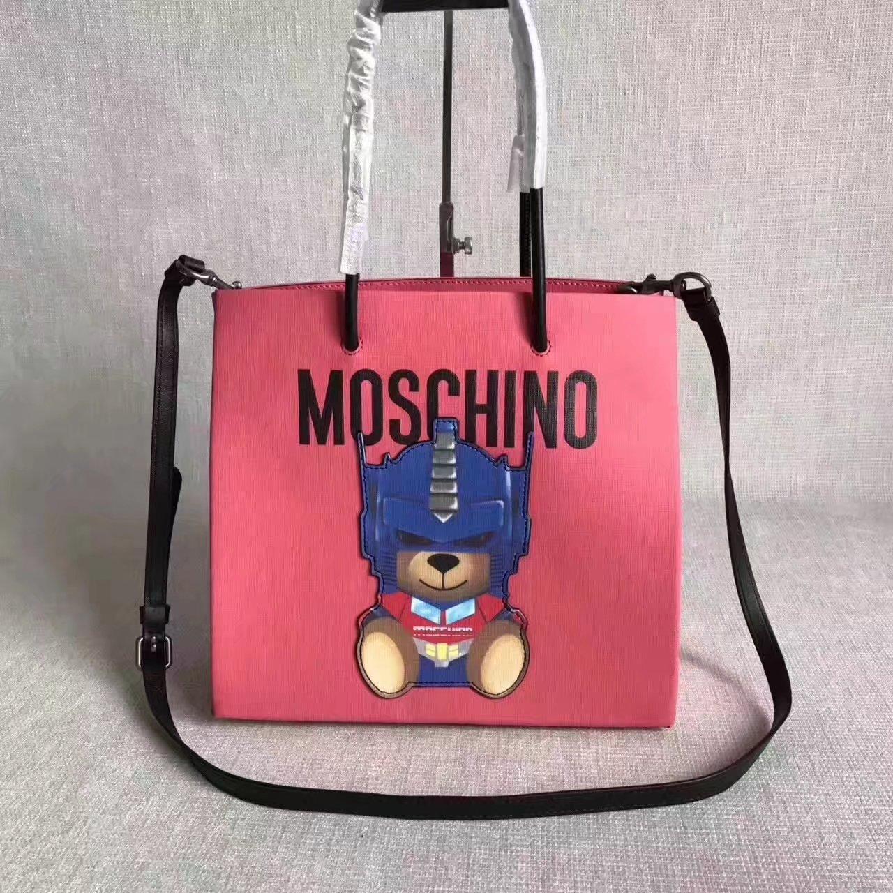 Moschino TRANSFORMERS Women Tote Bag Pink