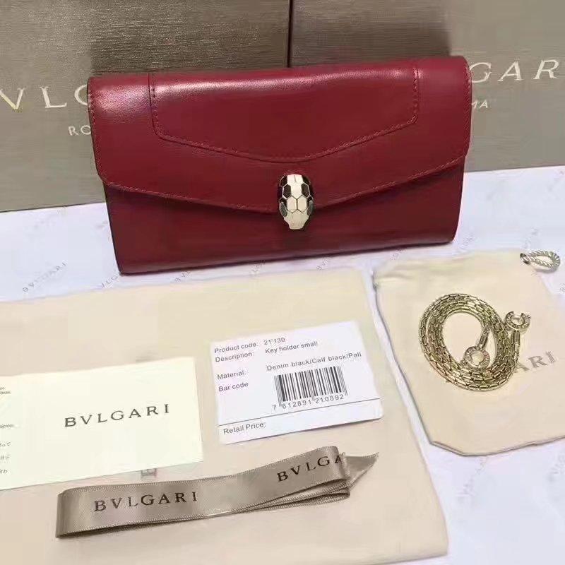 Original Bvlgarg Serpenti Forever Chain Pochette Bag Red