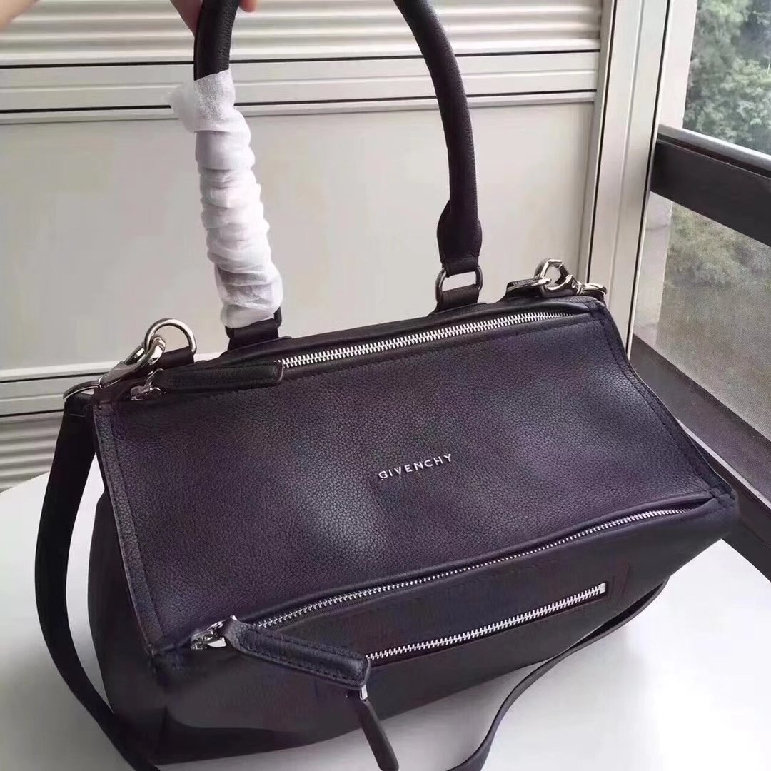 Original Copy Givenchy Mini Pandora Bag in Aged Black Leather
