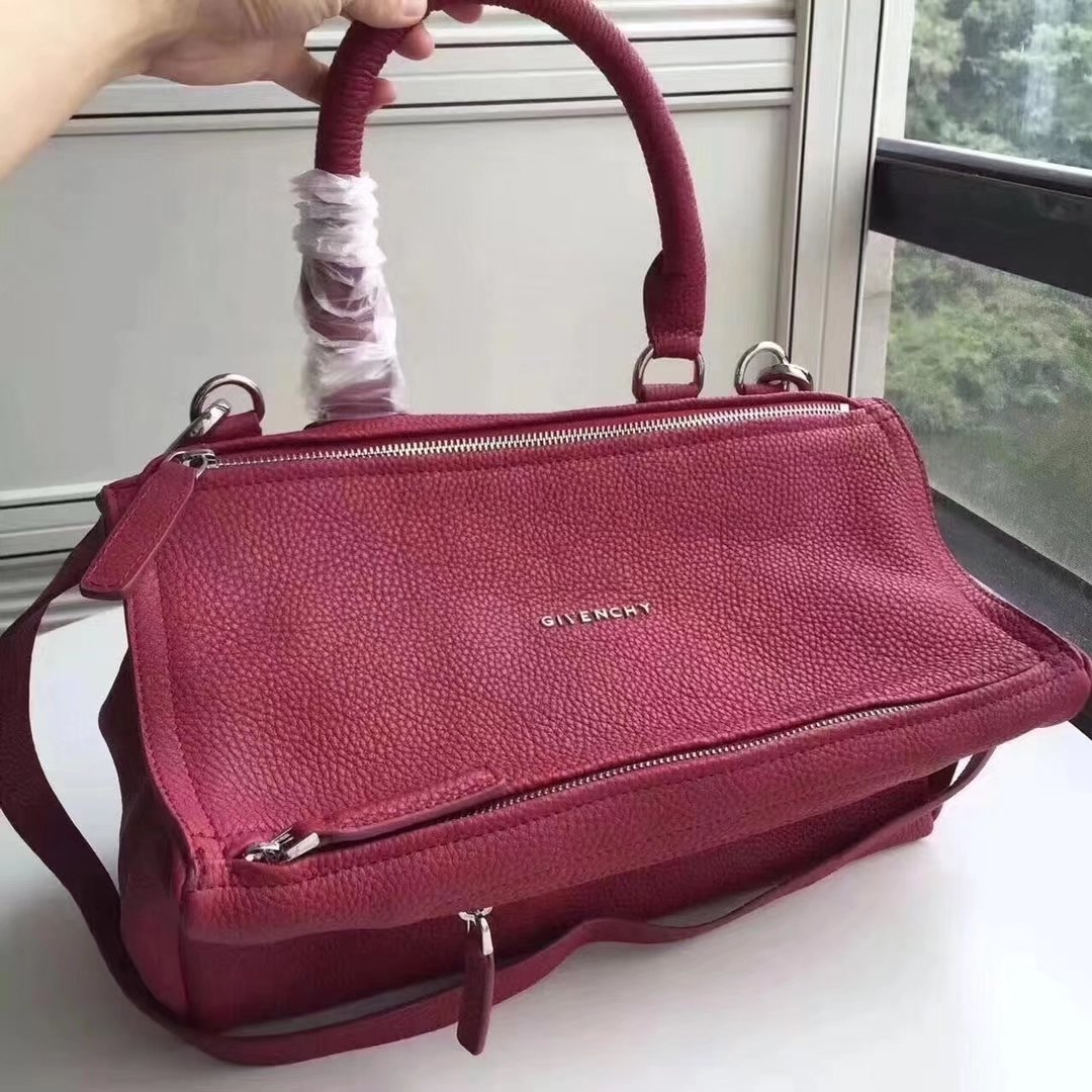 Original Copy Givenchy Mini Pandora Bag in Aged Burgundy Leather