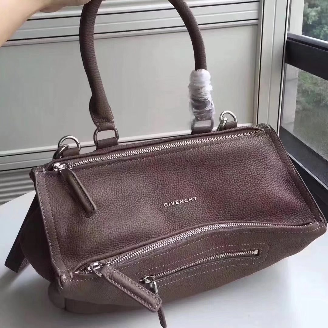 Original Copy Givenchy Mini Pandora Bag in Aged Chocolate Leather