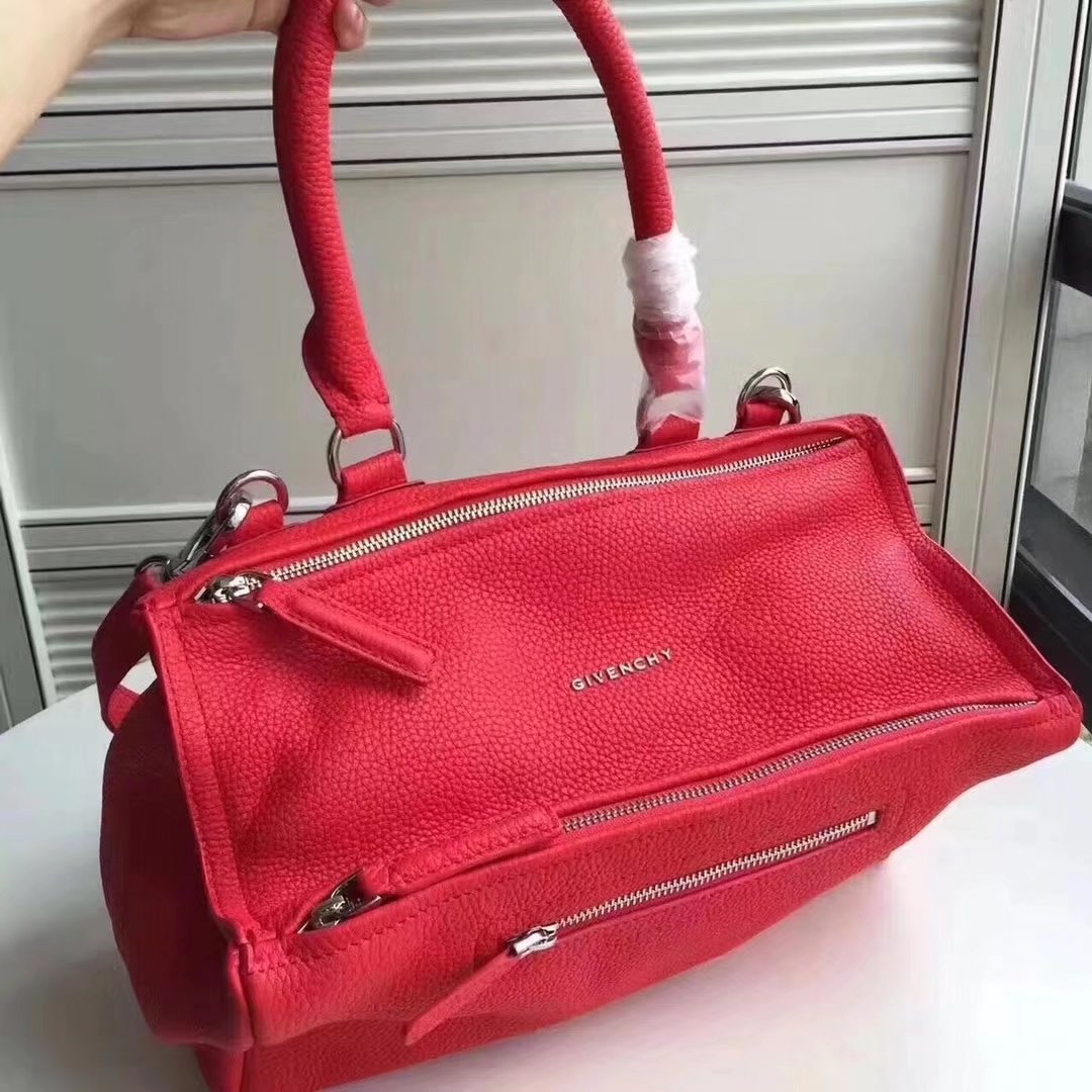 Original Copy Givenchy Mini Pandora Bag in Aged Red Leather