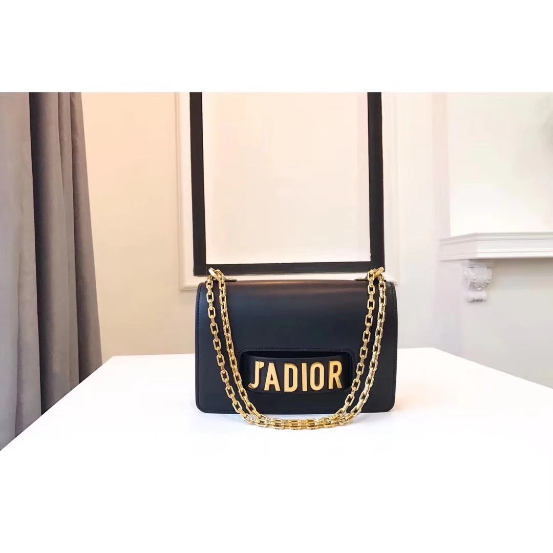 Dior J'ADIOR Flap Bags With Chain in Black