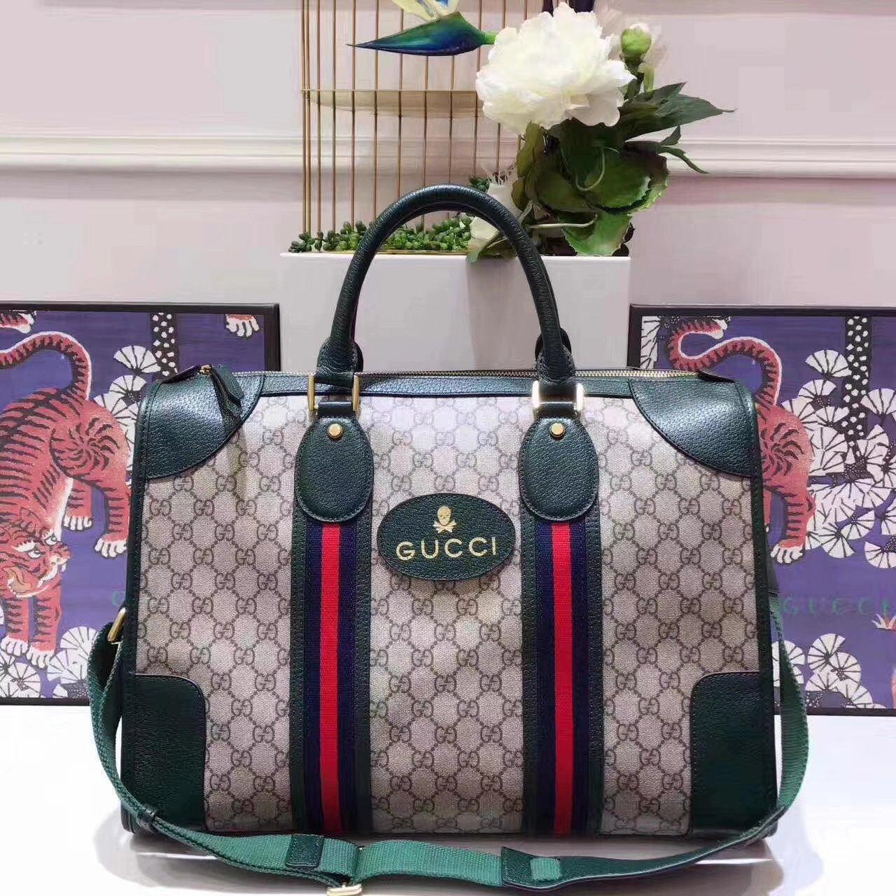 Original Quality Gucci 459311 Soft GG Supreme Duffle bag With Web