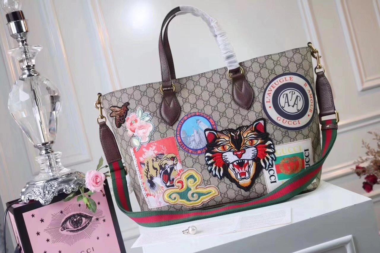 Original Quality Gucci 474085 Courrier soft GG Supreme Tote Bag