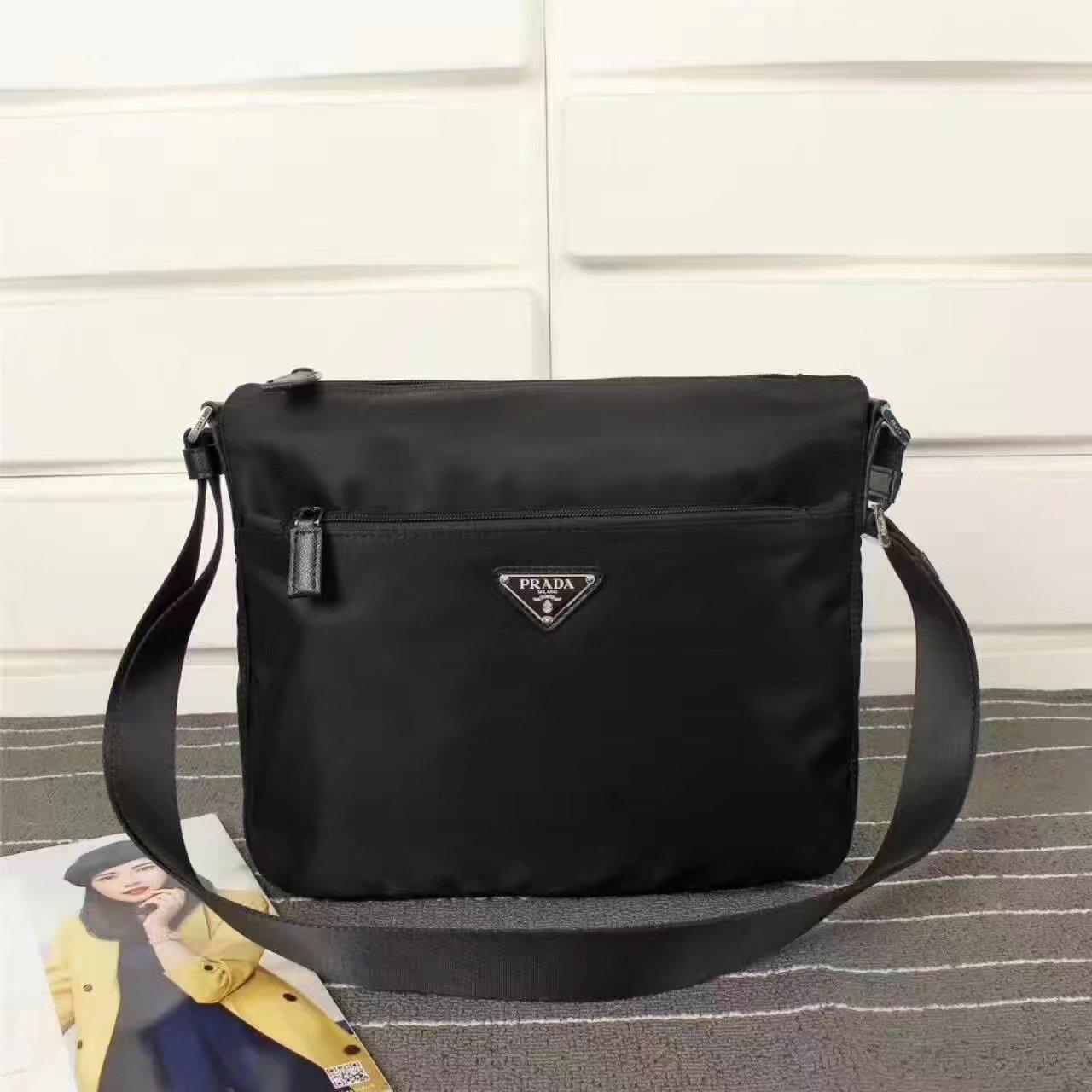 Prada 0421 Men Nylon Messenger Bag