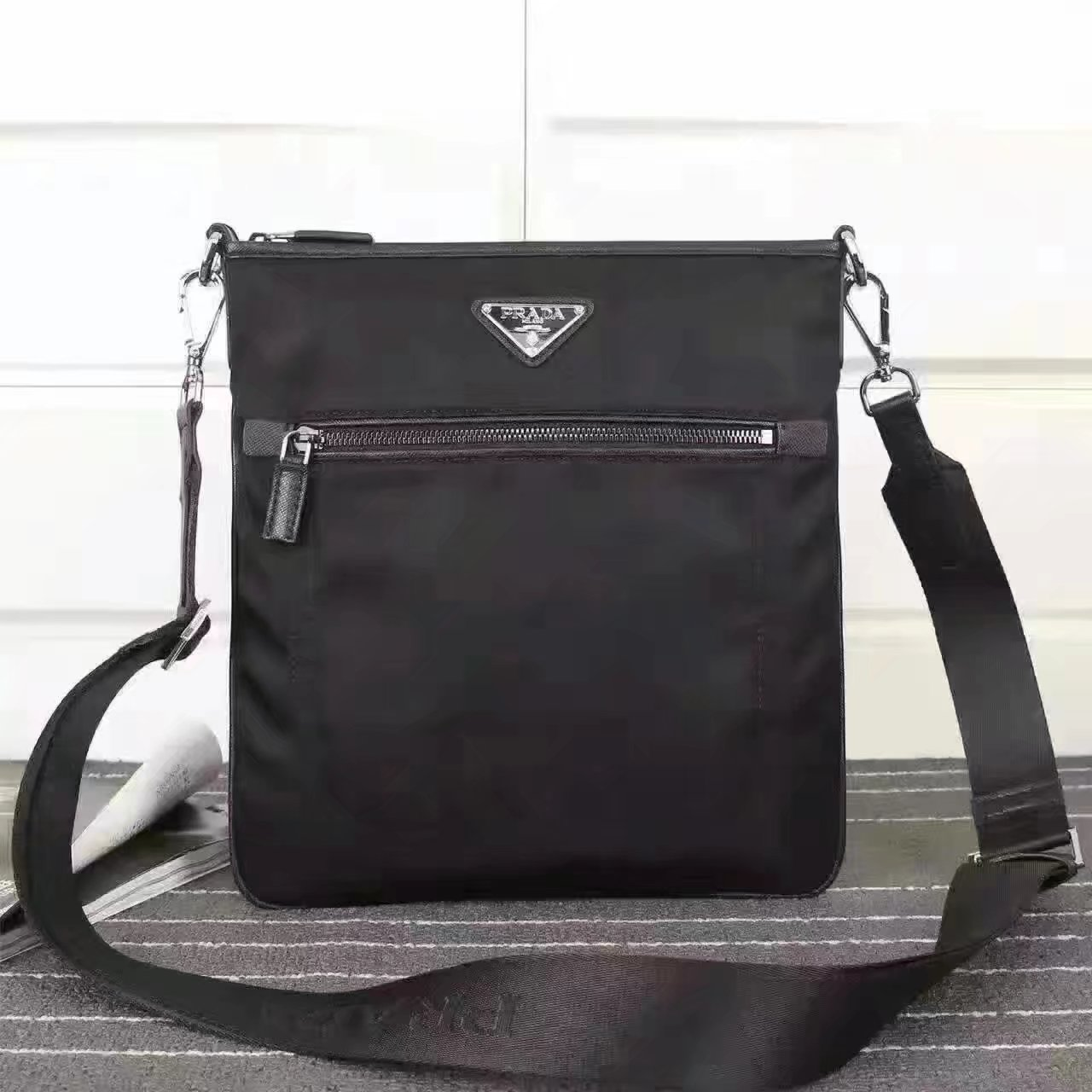 Prada 0819 Men Nylon Messenger Bag