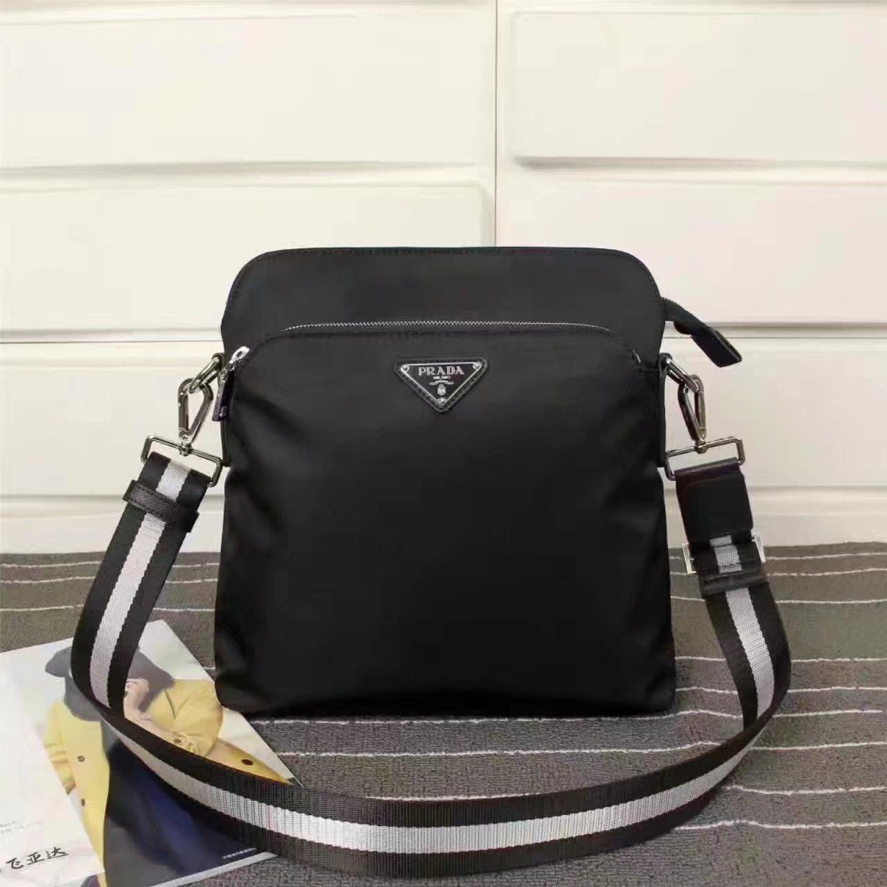 Prada 0820 Men Nylon Messenger Bag