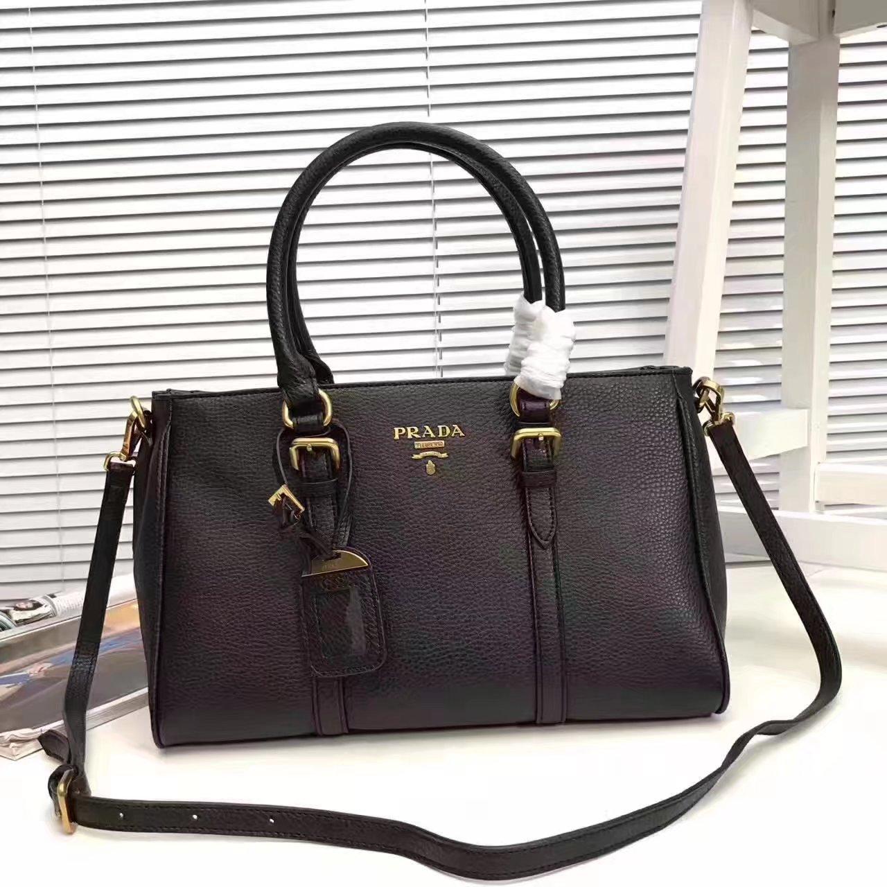 Prada 2996 Women 175 Tote Handbag Black