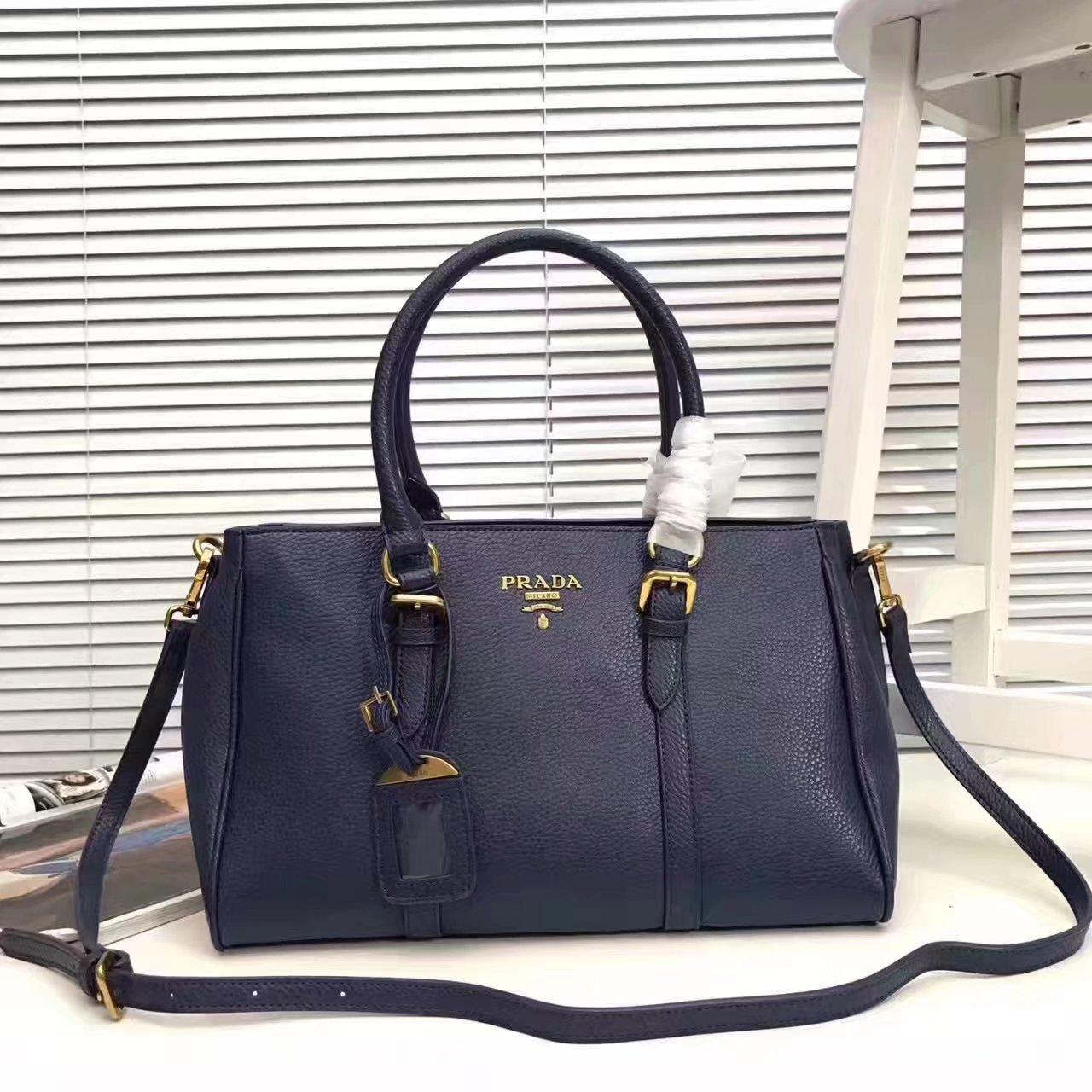 Prada 2996 Women 175 Tote Handbag Blue