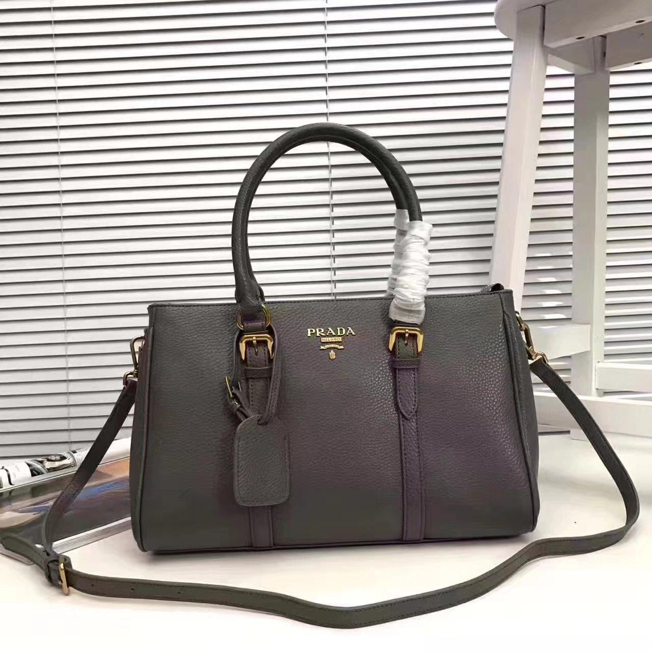Prada 2996 Women 175 Tote Handbag Grey
