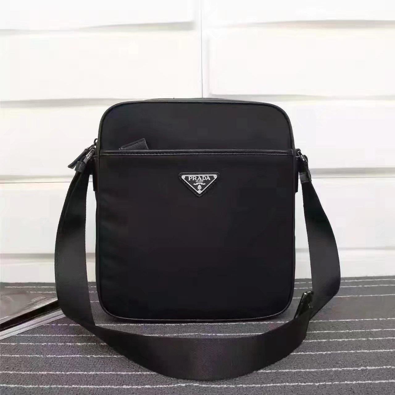 Prada 2VA002 Men Messenger Bag Black