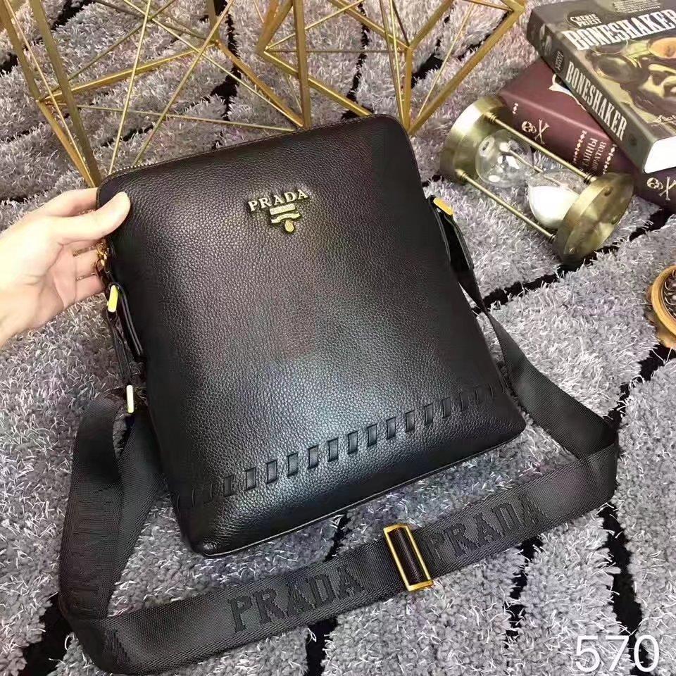 Prada 570 Men Leather Messenger Bag