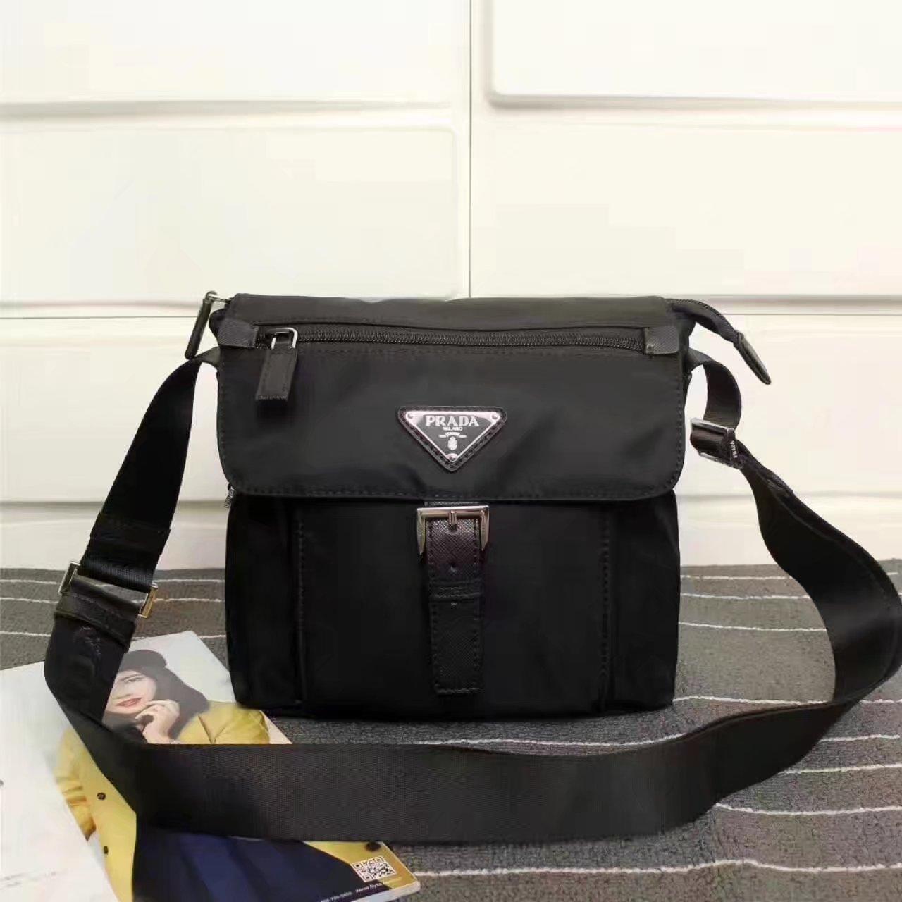 Prada 8994 Men Nylon Messenger Bag