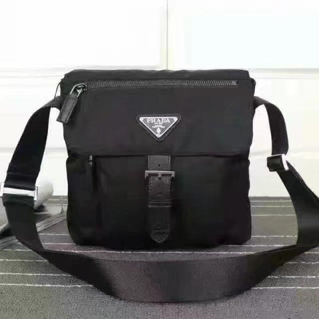 Prada 8994 Men Messenger Bag Black