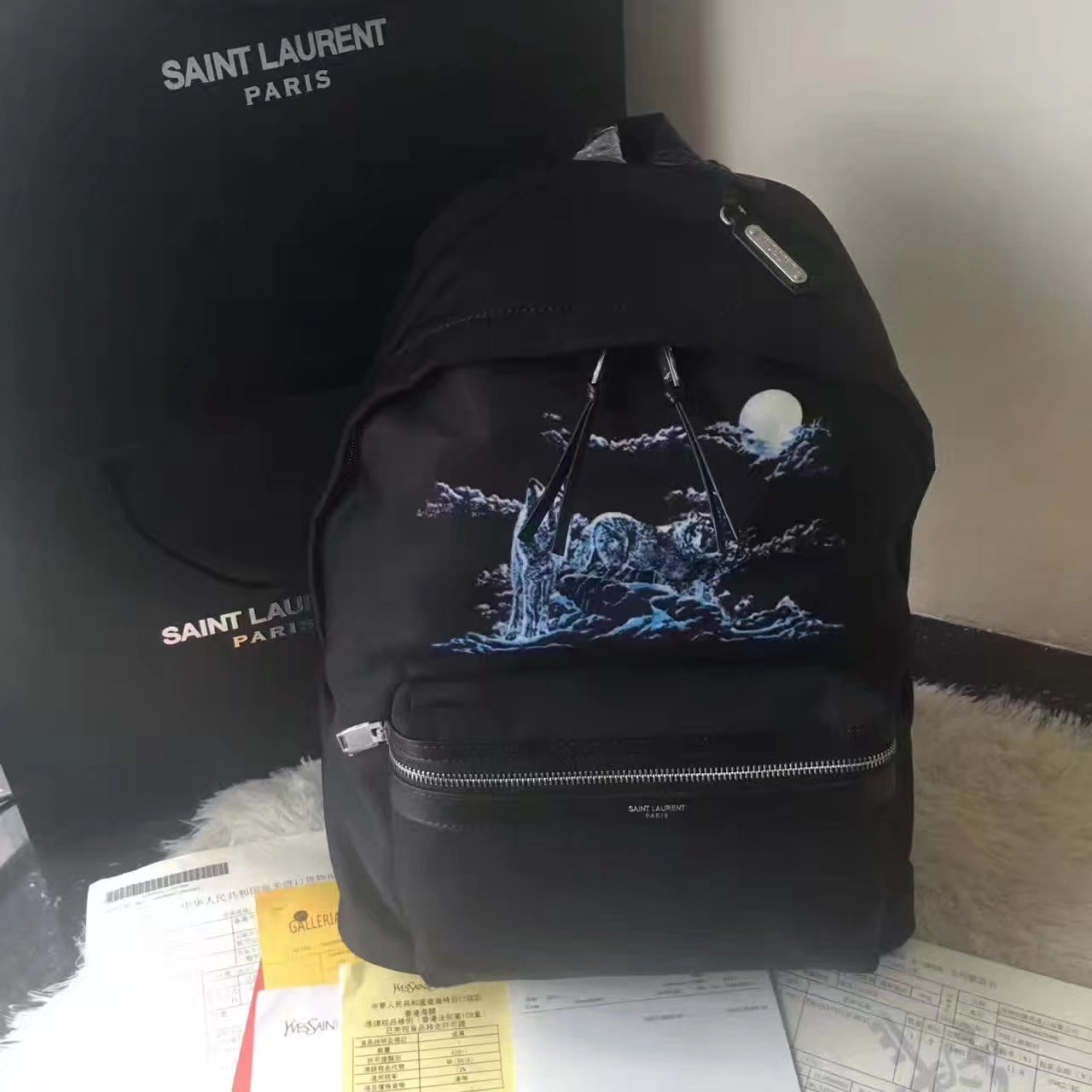 Saint Laurent Mini City 326865 Backpcak