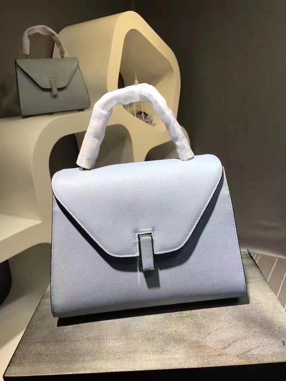 Valextra Superbag Iside Bag Smokey Blue