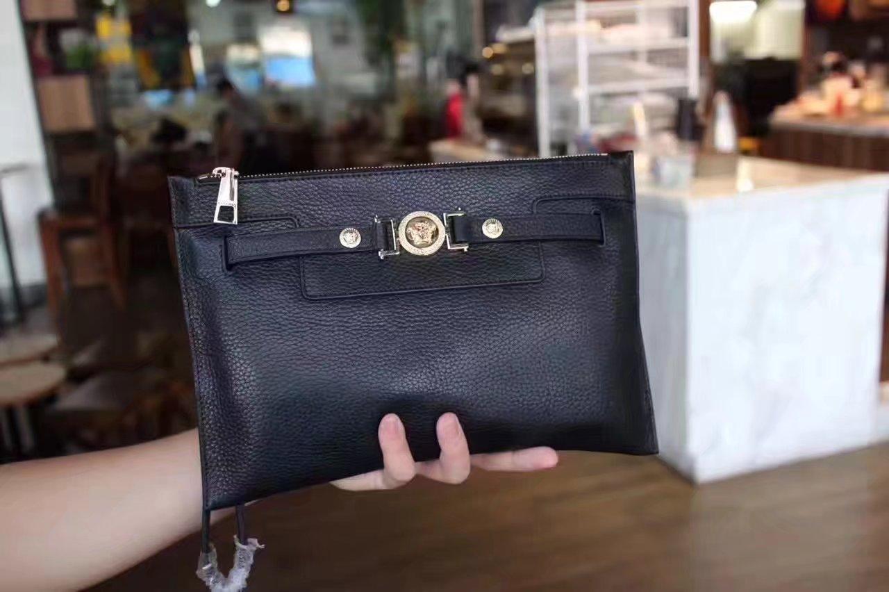 Versace Men Clutch Bag Black