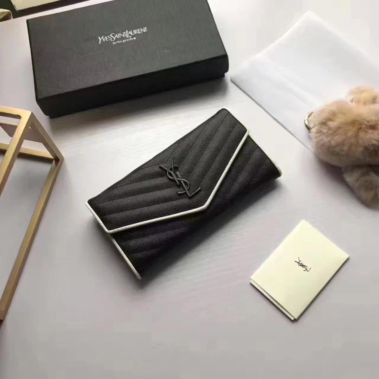 Yves Saint Laurent 2017 Fashion Flap Wallet Black