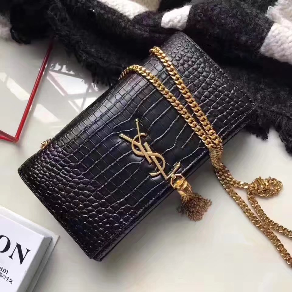 Yves Saint Laurent Medium Kate Monogram Tassel Satchel